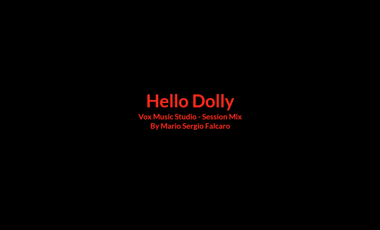 Captura de Tela - Hello Dolly -Session Mix