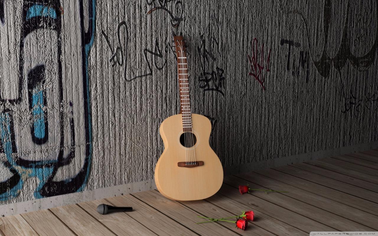 violão e rosas