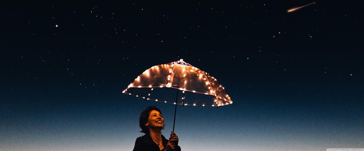 guarda chuva luz