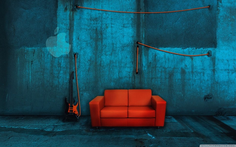 sofá vermeljo