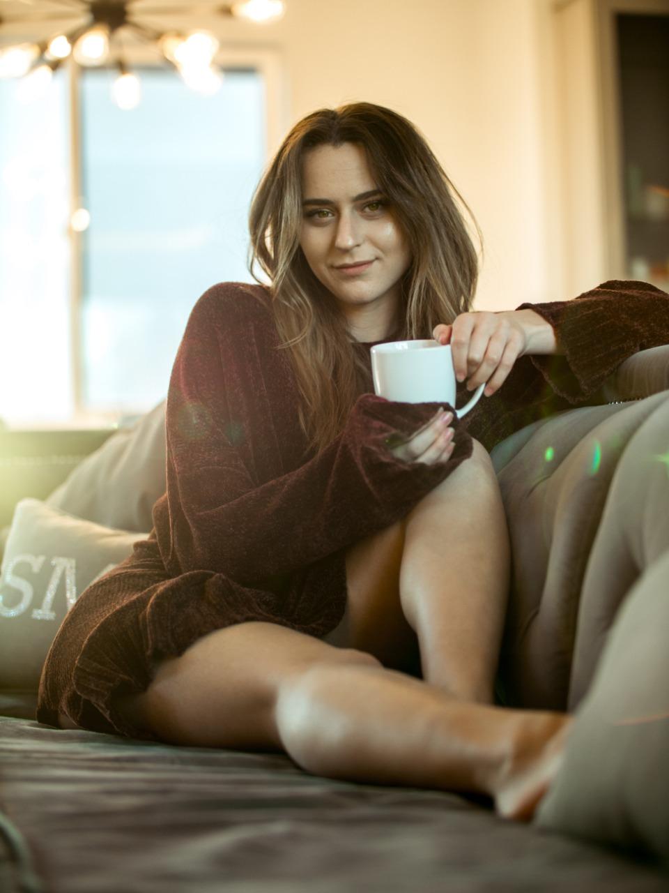 mulher café