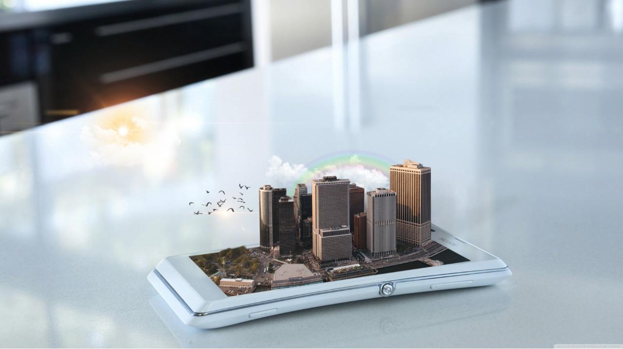 celular e prédios