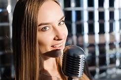 mulher microfone